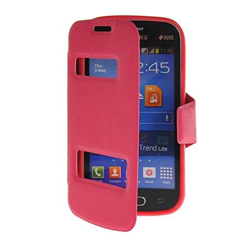 MOONCASE iPhone SE Case,Custodia in pelle Protettiva Portafoglio Flip Case Cover per Apple iPhone 5 / 5S Giallo Rosa