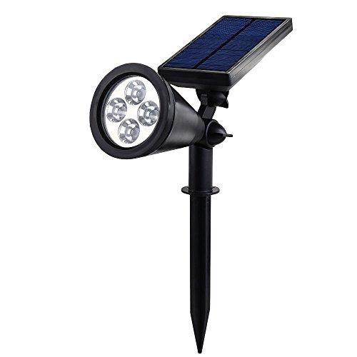 grde lampe solaire piquet spot autonomie projecteur led spotlight avec panneau solaire. Black Bedroom Furniture Sets. Home Design Ideas