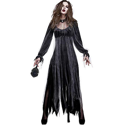 wnddm Halloween Kleid für Frauen Horror Fancy Clothes Plus Scary Party Vampire Set Tag der Toten Mit Bloody Bride Cosplay Kostüme@Braut gesetzt_Braut M (Bloody Braut Kostüm)