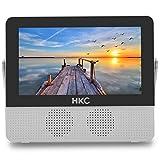 HKC P7H6 TV digitale da 7 pollici, TV digitale terrestre DVB-T-T2 portatile, porta USB compatibile, slot per schede SD/MMC Piccola televisione analogica per aerei domestici 110-220V