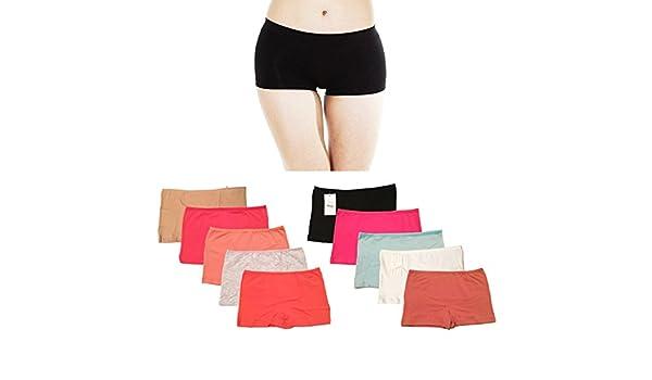 Women/'s Boyshorts Underwear Boxer Shorts Low Waist Panties Briefs Knickers UK