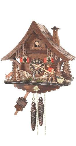 Original Schwarzwälder Kuckucksuhr Uhr NEU Angler Schwarzwaldhaus handarbeit