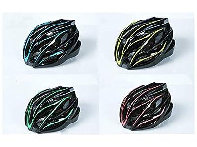 Lindou Outdoor Sports Helmet Men Women One-Piece Helmet Adjustable Bike Helmet Porous Mountain Bicycle Helmet(Green+Black) for Safety by Lindou