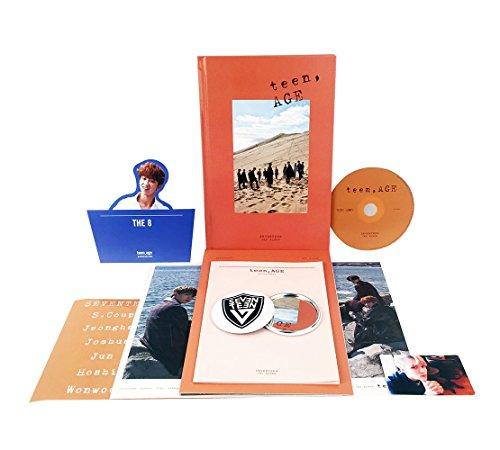 SEVENTEEN 2nd Album - TEEN, AGE [ORANGE Ver.] CD + Photo Book + Photo Card + Folding Poster(ON PACK) + Lyrics Paper + Name Sticker + Portrait Desktop Stand + FREE GIFT / K-POP Sealed (Home Alone 1 2 3 4)