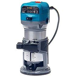 KATSU 101750 Défonceuse électrique à Bois Routeur de lamineur Outil de menuisiers 220V 6mm, 8mm, 10mm
