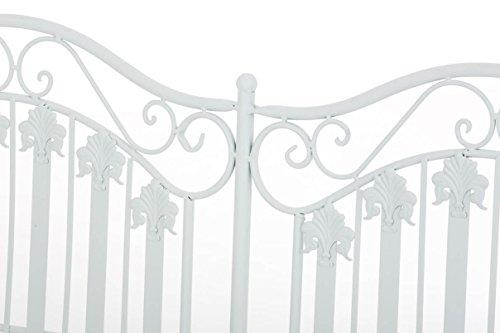 CLP Metall-Gartenbank RONJA im Landhausstil, Eisen lackiert, 108 x 55 cm, 2er Sitzbank Weiß - 5