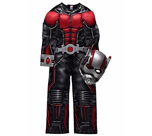 Official Marvel licensed Ant Man fancy dress costume 5-6 years with Light-Up Belt & Mask, Made for George Collection by Marvel for George