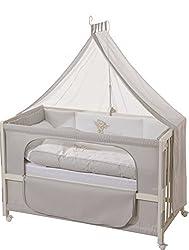 roba Beistellbett, Roombed, Babybett 60x120 cm'Heartbreaker' ,Anstellbett zum Elternbett mit kompletter Ausstattung