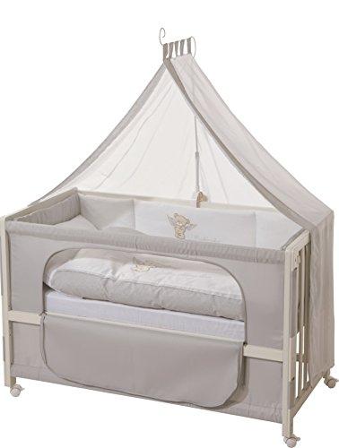 roba Roombed, Babybett 60x120 cm 'Heartbreaker', Beistellbett zum Elternbett mit kompletter Ausstattung