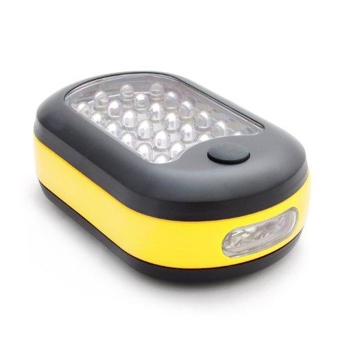LED Arbeitsleuchte mit 27 x Dioden-LED´s + Haken zur Aufhängung und Magnethalterung, Mobile Camping Leuchte/Outdoor-Lampe, Farbe: schwarz/gelb - Marke Ganzoo