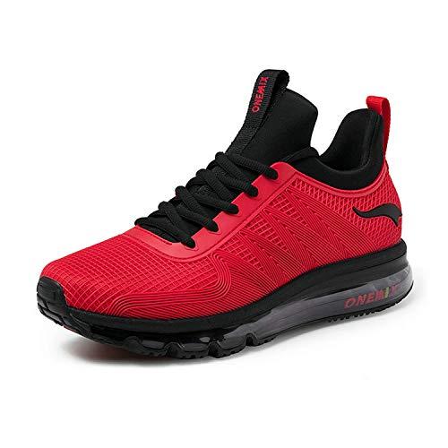 ONEMIX Air Running Uomo Scarpe da Corsa Ginnastica Sportive Sneaker Rosso 39 EU
