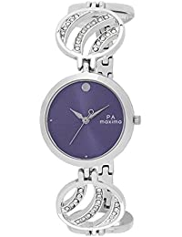Maxima Analog Purple Dial Women's Watch - O-44940BMLI