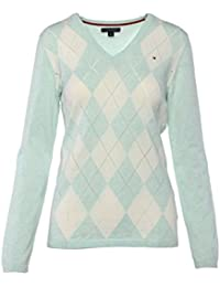 29e37f6e32ef1 Tommy Hilfiger Damen Pullover, Women's Argyle Sweater, Medium