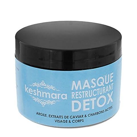 keshmara Masque Detox Restructurant pour Visage/Corps Argile 200