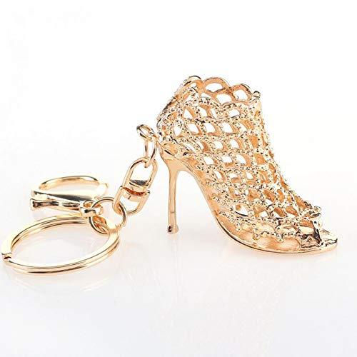 QZHE Schlüsselkette High Heel Schuhe Keychain Strass Autoschlüssel Ringe Frauen Tasche Charme Schlüsselanhänger Schlüsselanhänger Mode Kristall Schlüsselhalter -