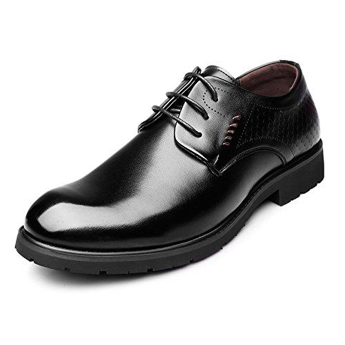 02799d8d JIALUN-Zapatos Cuero Genuino de Negocios Oxfords Lace Up Fish Scale Decor  Formal Shoes (