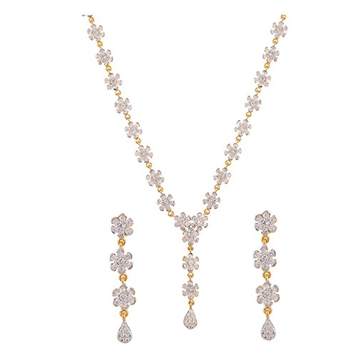 swasti-jewels-damen-american-diamant-aaa-cz-zirkon-fashion-schmuck-set-halskette-ohrringe-gold
