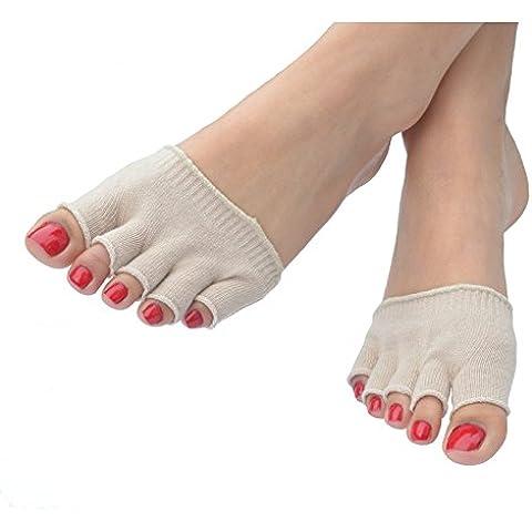 Cinque dita calzino Protettivo–ottenere sollievo istantaneo Duroni, calli, vesciche, calli, Piede d' Atleta, Gotta, artrite, (Bunion Bandage)