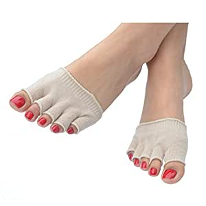 Five Toe Protective Sock - Get instant relief corns, calluses, blisters, bunions, athlete's foot, gout, arthritis, pain from high heels + more!! 1 x PAIR