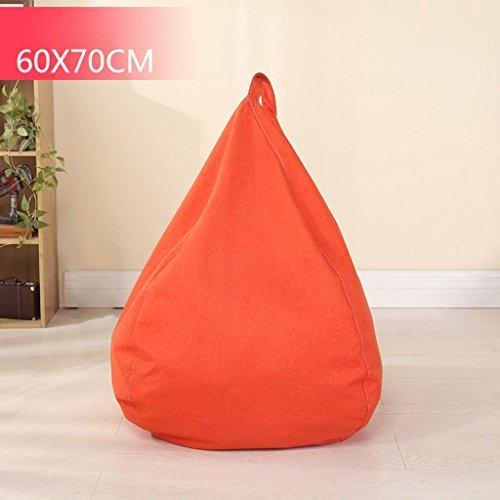 Bean Bag Single Sofa Chambre Salon Petit Appartement Lounger Chaise Creative 60 * 70cm (Couleur : Orange)