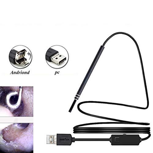 XGLL Endoskop, visuelles Ohrenschmalz-Entfernungswerkzeug, Home-Lupe, HD-USB-Endoskop, für Windows-PC und mit Android-Telefon mit OTG-Funktion