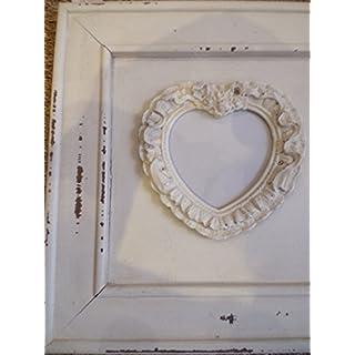 Antic Line Kreationen–Titoutam Bilderrahmen für Tür Foto Triple in Herzform Holz creme antik Antic Line Ref seb13676