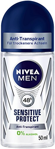 Nivea Roll-on (Nivea Men Deo Sensitive Protect Deoroller, Antitranspirant, 6er Pack (6 x 50 ml))