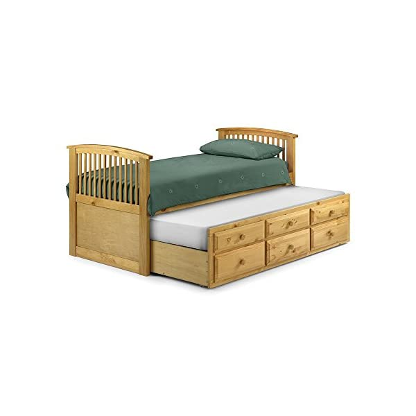 Julian Bowen antique pine hornblower bed pullout bed Julian Bowen 3 additional drawers under the pullout offering ha Antique Pine finish. Stone White lacquered finish also available. 1