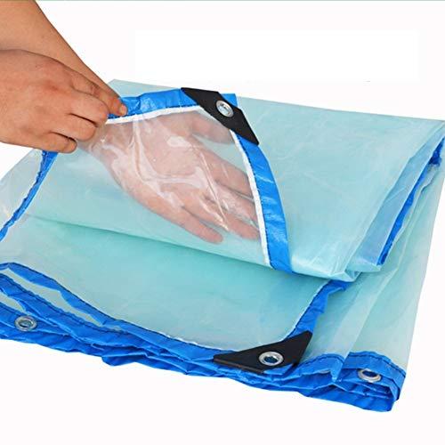 Jsmhh Regenschutzplane Windschutzscheibenzucht Anti-Aging Knopfloch Kunststoff PE, 23 Größen (Color : Clear, Size : 5 m x 6 m)