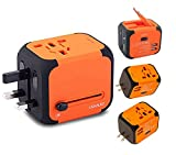 New Universal Travel Adapter Electric Plugs Sockets Converter Uk/EU/US/AU with Dual USB Charging