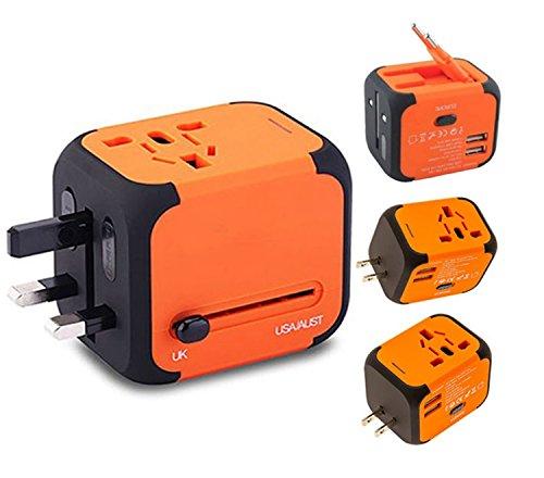 Travel Adapter Elektrische Stecker Sockets Converter mit Dual USB Ladekabel 2,4 A LED-Betriebsanzeige Elektrische Stecker International Travel Plug Adapter Laden