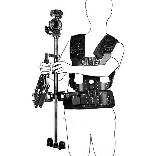 VBESTLIFE Handheld-Steadicam-Stabilisator, Dual/Einzelner Arm und Weste Körper montiert Steadycam für Handheld Stabilisator für Sony Canon Nikon Panasonic Kamera von 5 bis 8 kg.(Einarmiger B200-C1)