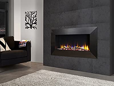 "Celsi Designer Fire Ultiflame VR Instinct 33"" Black Wall Mounted Inset Electric Fire"
