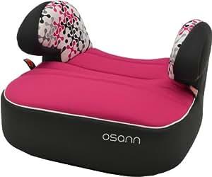 Osann Kinderautositz Autositzerhöhung Booster Dream Plus Corail Framboise pink rosa, 15 bis 36 kg, ECE Gruppe 2 / 3, von ca. 3 bis 12 Jahre, mit integrierter Gurtführung und bequemen Armlehnen