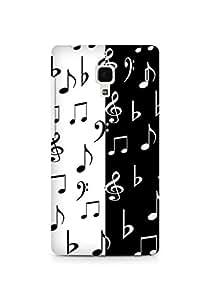Amez designer printed 3d premium high quality back case cover for Xiaomi Redmi 1S (Black and White)