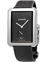 Chanel Boy-Friend Black Guilloche Dial Ladies Hand Wound Watch H5201