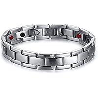 Vnox Uomo 13mm vigilanza classica catena di acciaio inossidabile del braccialetto di collegamento,livello lucidato,22,5 centimetri
