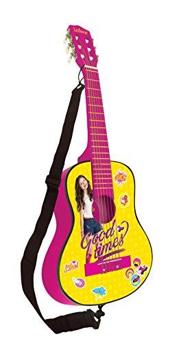 Soy Luna Disney Guitarra Clásica De 6 Cuerdas, 78 cm Largo, Material de Madera (Lexibook K2000SL), Color Amarillo