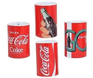 Tirelire Boîte hermétique 14,5 x 11 cm-tirelire Coca-Cola Lot de 4