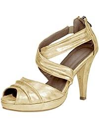 Andrea Conti - Sandalias de vestir para mujer Dorado dorado