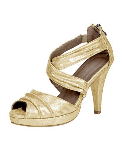 Andrea Conti Damen-Schuhe Sandalette Gold Gold