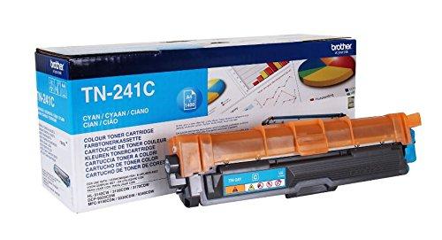 Überschrift: Brother Original Tonerkassette TN-241C cyan (für Brother HL-3140CW, HL-3170CDW, HL-3150CDW, DCP-9020CDW, MFC-9140CDN, MFC-9330CDW, MFC-9340CDW)