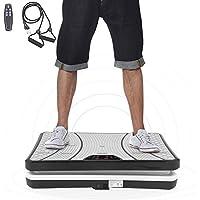 ISE Plateforme Vibrante pour Musculation et Perte de Poids,Grande Surface 62x38cm, Télécommande et Bandes élastiques, SY-8008