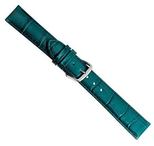 Louisiana Print XL Ersatzband Uhrenarmband Leder Petrol 21904S-XL, Anstoß:18 mm