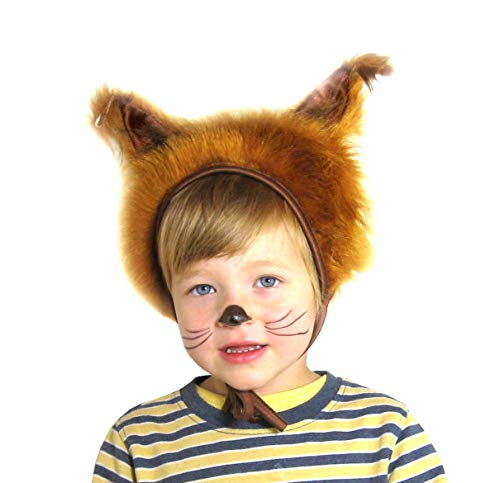 SIA COLLA-S Faschingskostüm Eichhörnchen Mütze mit Ohren Kinderkostüm Kappe Hut Eichhörnchen Karneval Kostüme für Kinder Festtage Größe S/M Geschenk