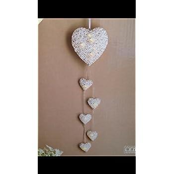 6 LED Hanging String Heart Light