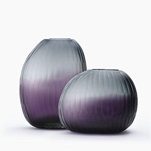 Floreros cilindro de cristal set de 2 centros de mesa decorativos ...