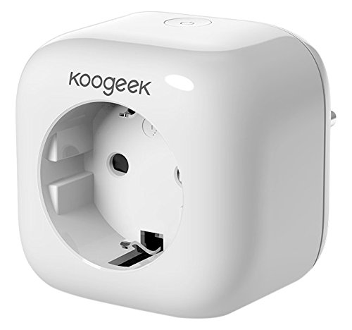 Koogeek Intelligente Steckdose Wi-Fi Smart Plug funktioniert mit Alexa mit Apple HomeKit mit Siri Remote Control auf 2.4 GHz Netzwerk