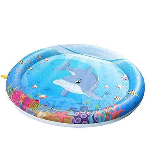 Schimer Splash Pad Wasserspielzeug spielmatte Outdoor Sommer Garten Splash Spielmatte für Baby Party Sprinkler und Splash Play Matte Spaß für Kinder 2 3 4 5 Jungen und Mädchen (100cm) -