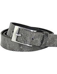 Ledergürtel mit schmaler Metallschließe, 3cm Breite